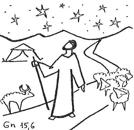 bible abraham stars coloring pages - photo#7