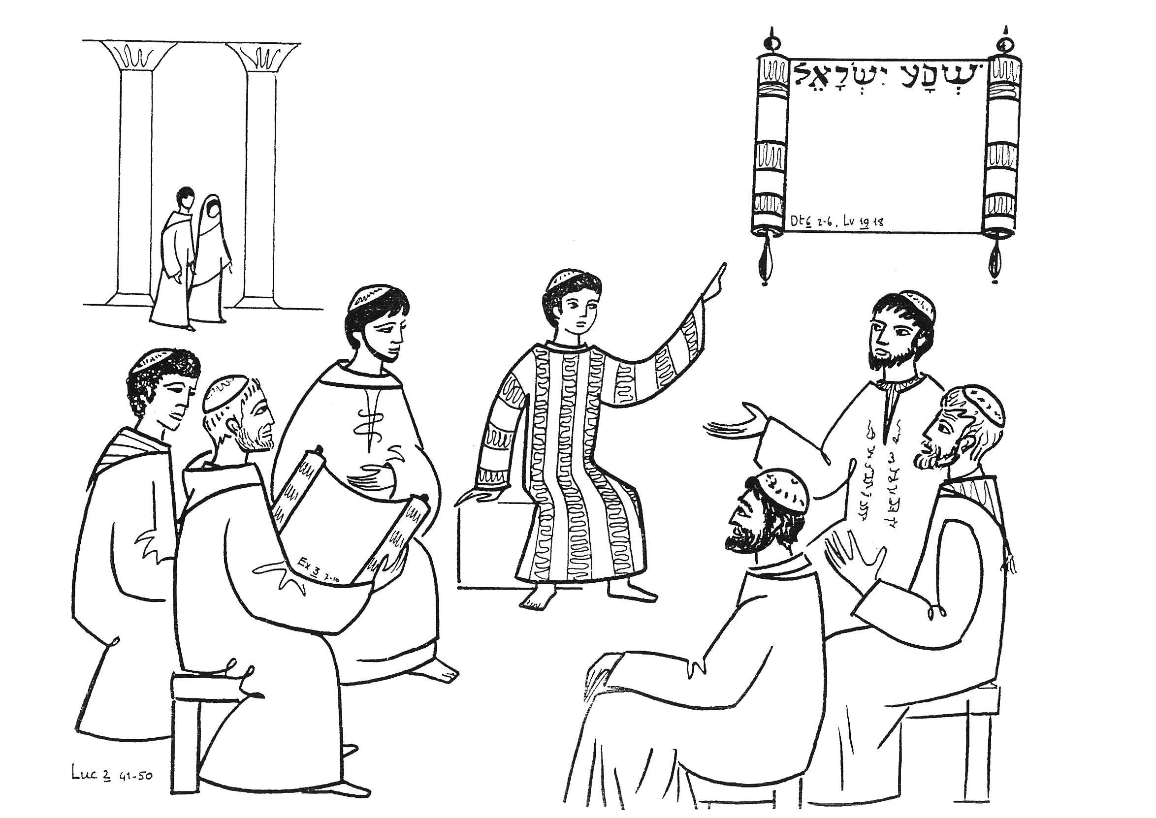 Free Coloring Pages Of Boy Jesus In Temple