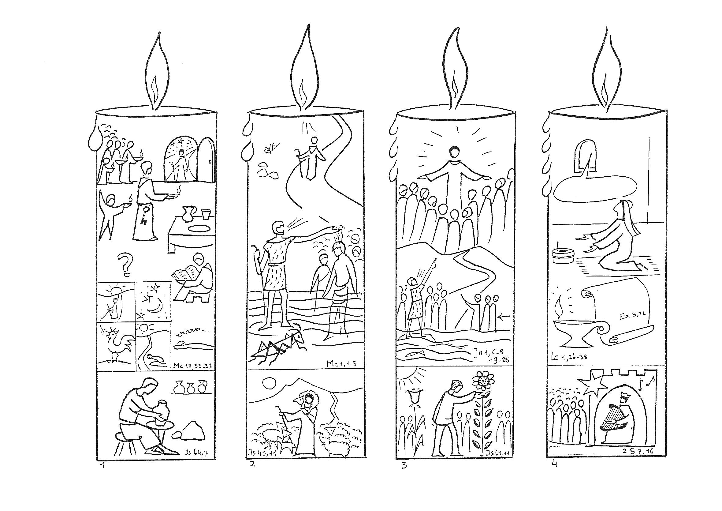 advent candles Colouring Pages (page 3)